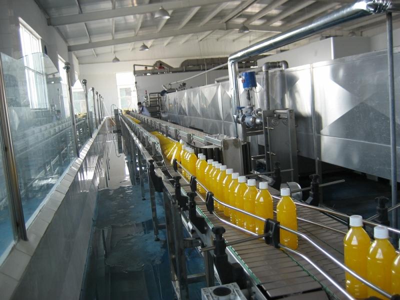 果汁饮料成品输送系统